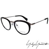 Yohji Yamamoto 山本耀司 時尚金屬復古圓框光學眼鏡-黑銀-YY1023-019