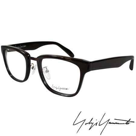 Yohji Yamamoto 山本耀司時尚方框造型光學眼鏡-深棕 YY1018-115