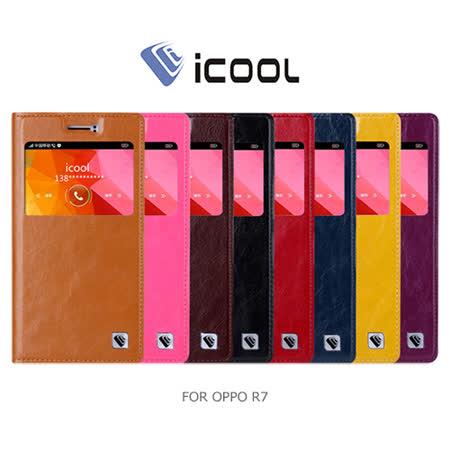 iCOOL OPPO R7 開窗可站立皮套