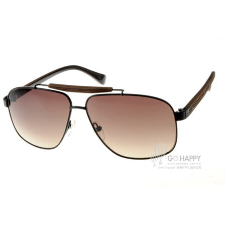 Calvin Klein太陽眼鏡 時尚潮流飛官款(黑棕) #CK1187S 068