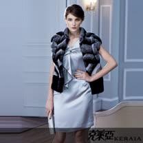 克萊亞KERAIA 荷葉門襟鑽飾洋裝