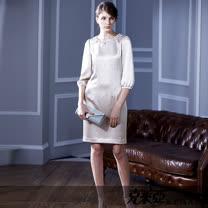 克萊亞KERAIA 5分袖繡花洋裝