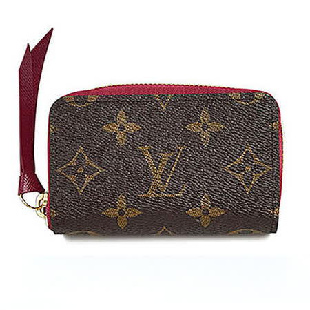 Louis Vuitton LV M61299 ZIPPY 經典花紋信用卡零錢包.紫紅_預購