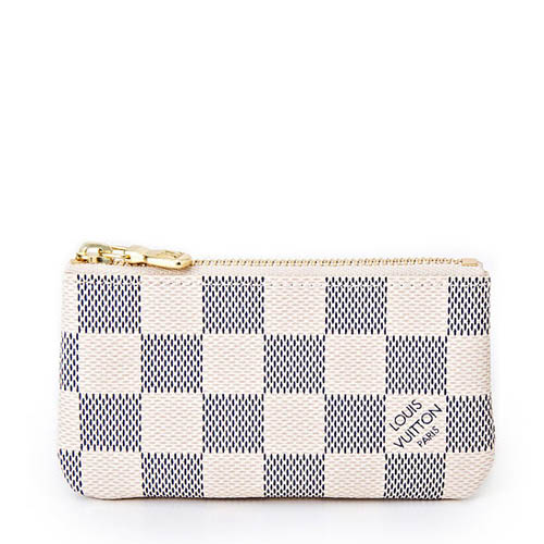 Louis Vuitton LV N62659 白棋盤格紋小型方型鑰匙零錢包_