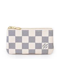 Louis Vuitton LV N62659 白棋盤格紋小型方型鑰匙零錢包_預購