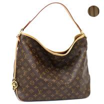 Louis Vuitton LV M50156 Delightful MM 經典花紋皮飾邊肩背包.米_預購