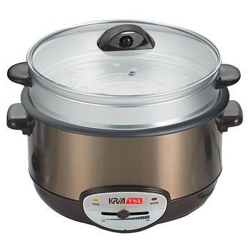 可利亞4.5L蒸煮電火鍋KR-838