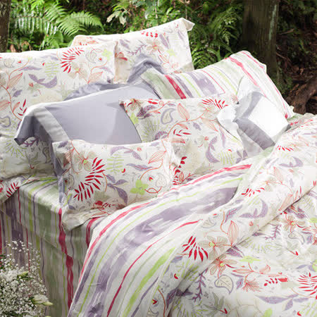 BBL 自由之心100%精梳棉印花雙人床包組