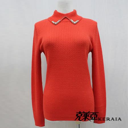 克萊亞KERAIA 領片縫飾羊毛上衣