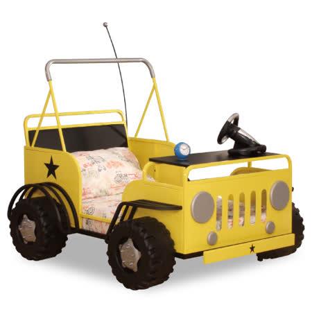 【Kids castle兒童城堡】 悍馬吉普車兒童造型單人床架(含床墊 床包 枕心)