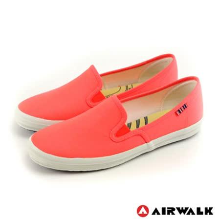AIRWALK(女) - 無盡青春至尊系列 懶人式直套帆布鞋 - 螢光粉