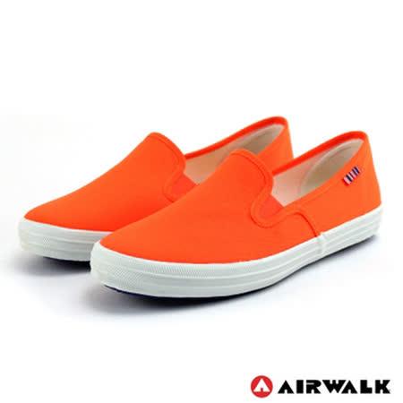 AIRWALK(女) - 無盡青春至尊系列 懶人式直套帆布鞋 - 螢光橘