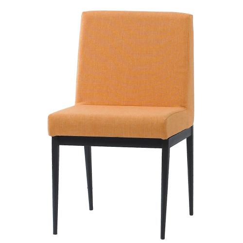 【幸福屋】卡特爾黑腳布餐椅-橘色