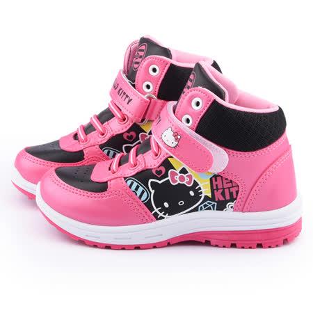 童鞋城堡-Hello Kitty 中大童 高筒運動鞋715157-黑