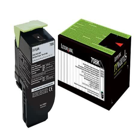 Lexmark 708K 黑色碳粉匣 / 70C80K0,CS310,CS410