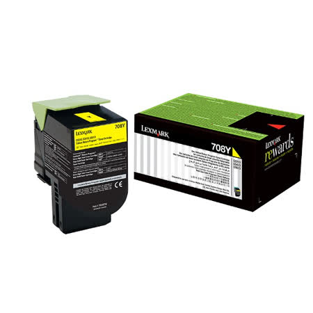 Lexmark 708Y 黃色碳粉匣 / 70C80Y0,CS310,CS410