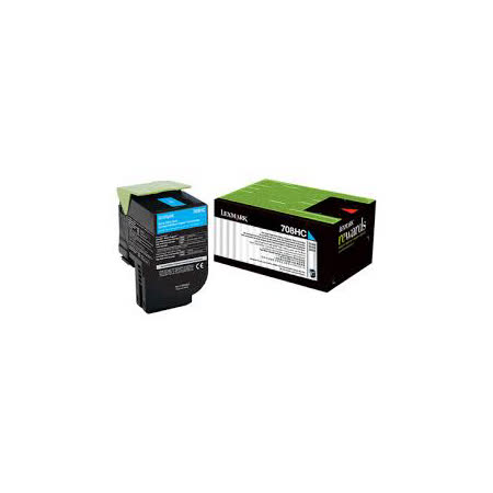 Lexmark 708HC 青色原廠碳粉匣 / 70C8HCE,CS310,CS410