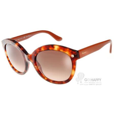 Salvatore Ferragamo太陽眼鏡 別緻貓眼款(琥珀透橘) #SF677S 215