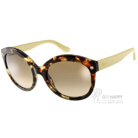Salvatore Ferragamo太陽眼鏡 別緻貓眼款(琥珀-芥末黃) #SF677S 316