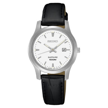 SEIKO CS系列簡約大三針石英錶-白x黑/29mm 7N82-0JK0A(SXDG65P1)