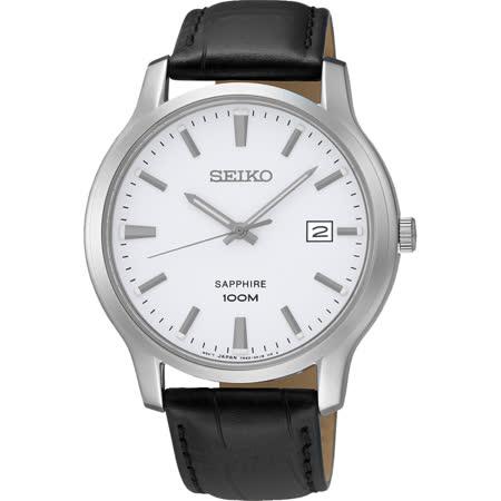 SEIKO CS系列簡約大三針石英錶-白/40mm 7N42-0GE0A(SGEH43P1)