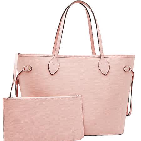 Louis Vuitton LV M41324 NEVERFULL MM EPI皮革子母束口購物包.粉紅_預購