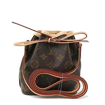Louis Vuitton LV M41346 Nano Noe 經典花紋斜背小水桶包_預購