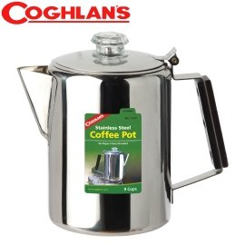 ~COGHLANS 加拿大~304 超輕食品級不鏽鋼^(188^)濾泡式咖啡壺^(9杯份.