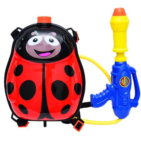 【戲水趣】背包水槍-紅瓢蟲