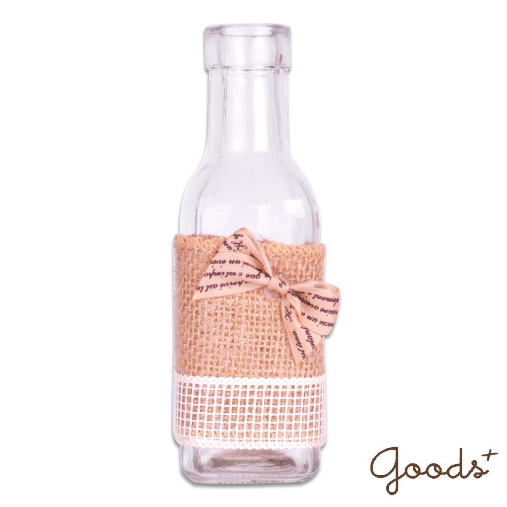 ~goods ~午後時光 唯美麻繩玻璃瓶花瓶置物瓶擺飾瓶 ^(小方瓶^)_GV08