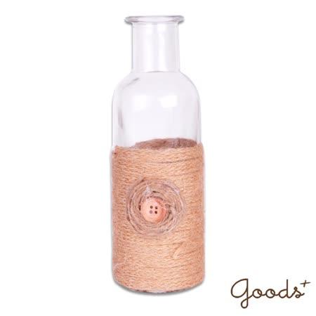 【goods+】午後時光 唯美麻繩玻璃瓶/花瓶/置物瓶/擺飾瓶 (小圓瓶)_GV06