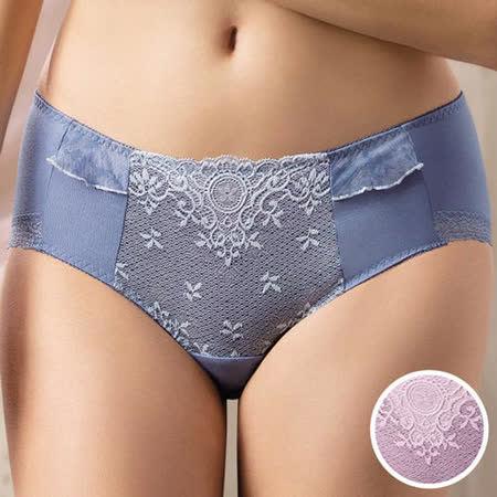 【華歌爾】約束 胸罩系列M-3L高腰三角褲(琉璃紫)