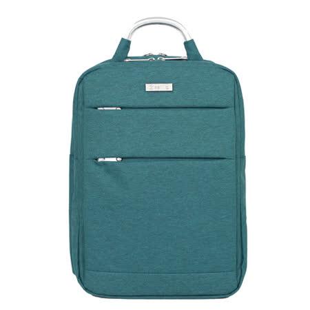 【estilo】休閒雅痞系列 韓式風格 兩用後背包(藍綠)