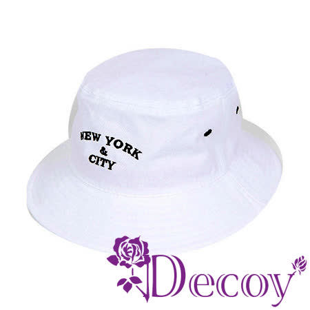 【Decoy】愛上紐約*韓風簡約漁夫帽/白