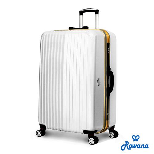 Row新竹 大 遠 百ana 金燦炫光PC鏡面鋁框行李箱 29吋 (雅典白)