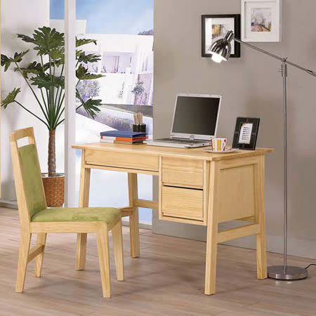 HAPPYHOME 達拉3.3尺實木書桌