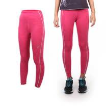 (女) ASICS 背部保暖緊身長褲 - 路跑 慢跑 運動 健身 亞瑟士 桃紅橘