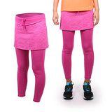 (女) SOFO 九分韻律長褲裙 -運動 路跑 慢跑 瑜珈 健身 休閒 粉紫白