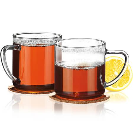 《TESCOMA》Teo杯墊+玻璃馬克杯2入(350ml)
