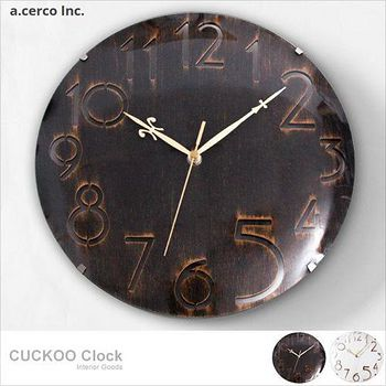 E&J a.cerco 數字曲線玻璃掛鐘 1個