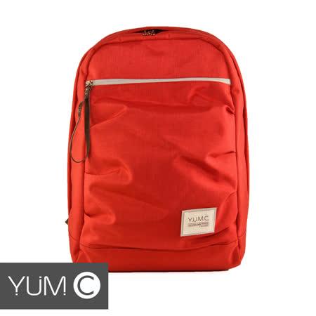 美國Y.U.M.C. Haight城市系列Day Backpack經典筆電後背包 嫣紅