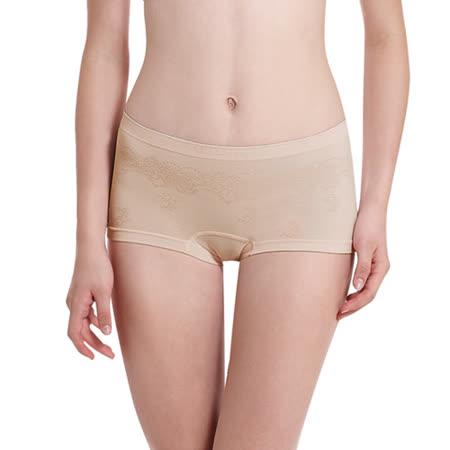 【LADY】超彈力親膚無痕系列 中腰平口褲(膚色)