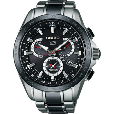 SEIKO ASTRON GPS衛星電波鈦金屬錶-黑/45mm 8X53-0AB0D(SSE041J1)