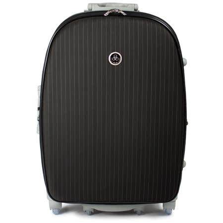 【Audi 奧迪】25吋條紋爬樓梯系列8輪360度Audi行李箱旅行箱LT-71625-黑