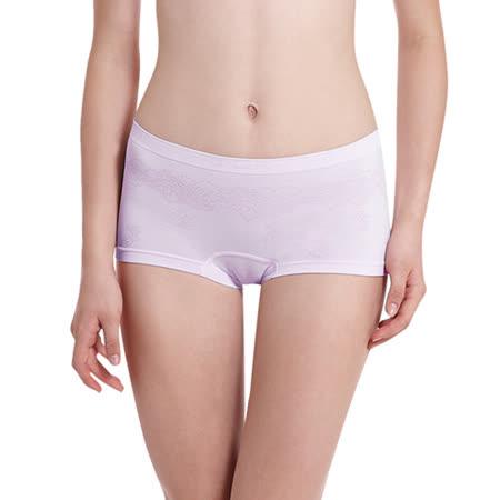 【LADY】超彈力親膚無痕系列 中腰平口褲(紫色)