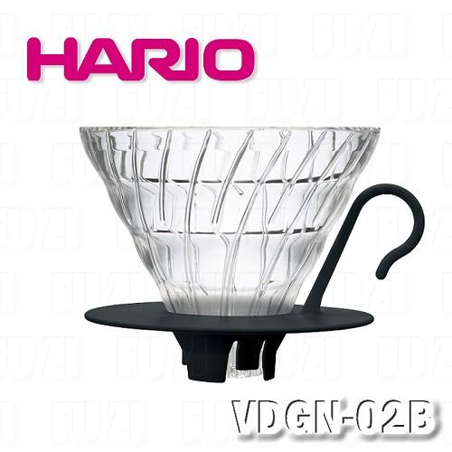 ~HARIO~V60黑色02玻璃濾杯1~4杯 VDGN~02B