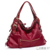 【法國盒子】韓版時尚釦飾造型二用包(紅色)N8908