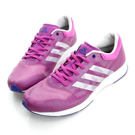adidas (女)慢跑鞋-紫-B40415
