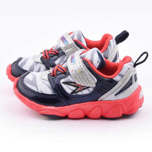 Achilles瞬足 中童 超輕量寬楦運動鞋ESJC0771-銀