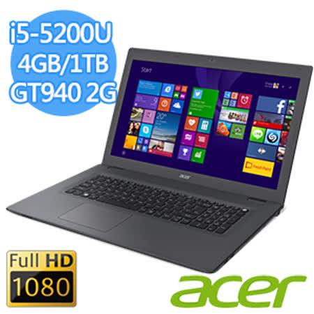 Acer E5-772G-54PL 17.3吋FHD I5-5200U 4G記憶體NV 940 2G獨顯 大螢幕視野影音筆電贈送清潔組